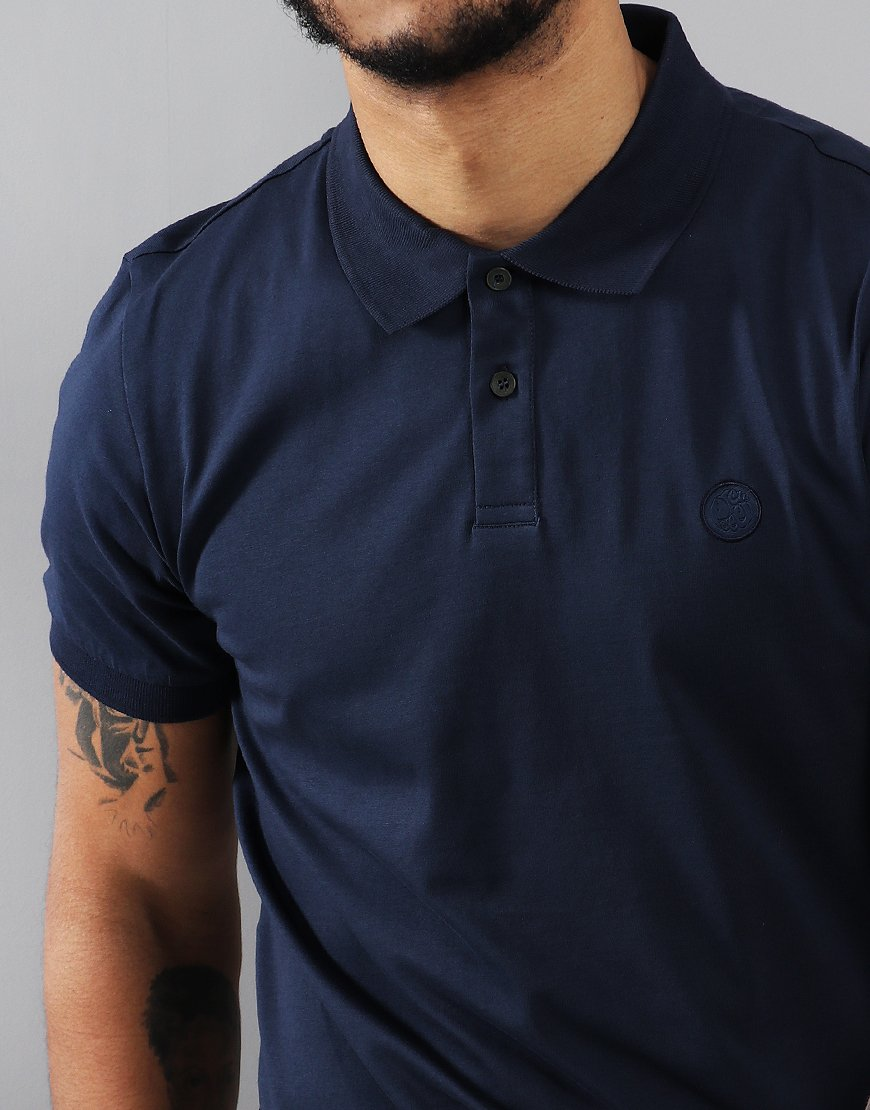 Pretty Green Jersey Polo Shirt Navy