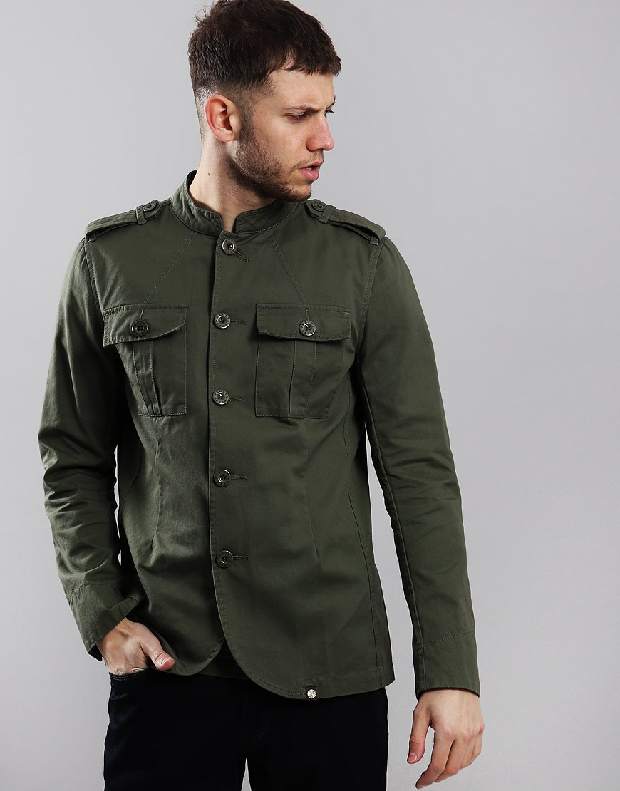a089fafdf75 Pretty Green Langford Military Jacket Khaki