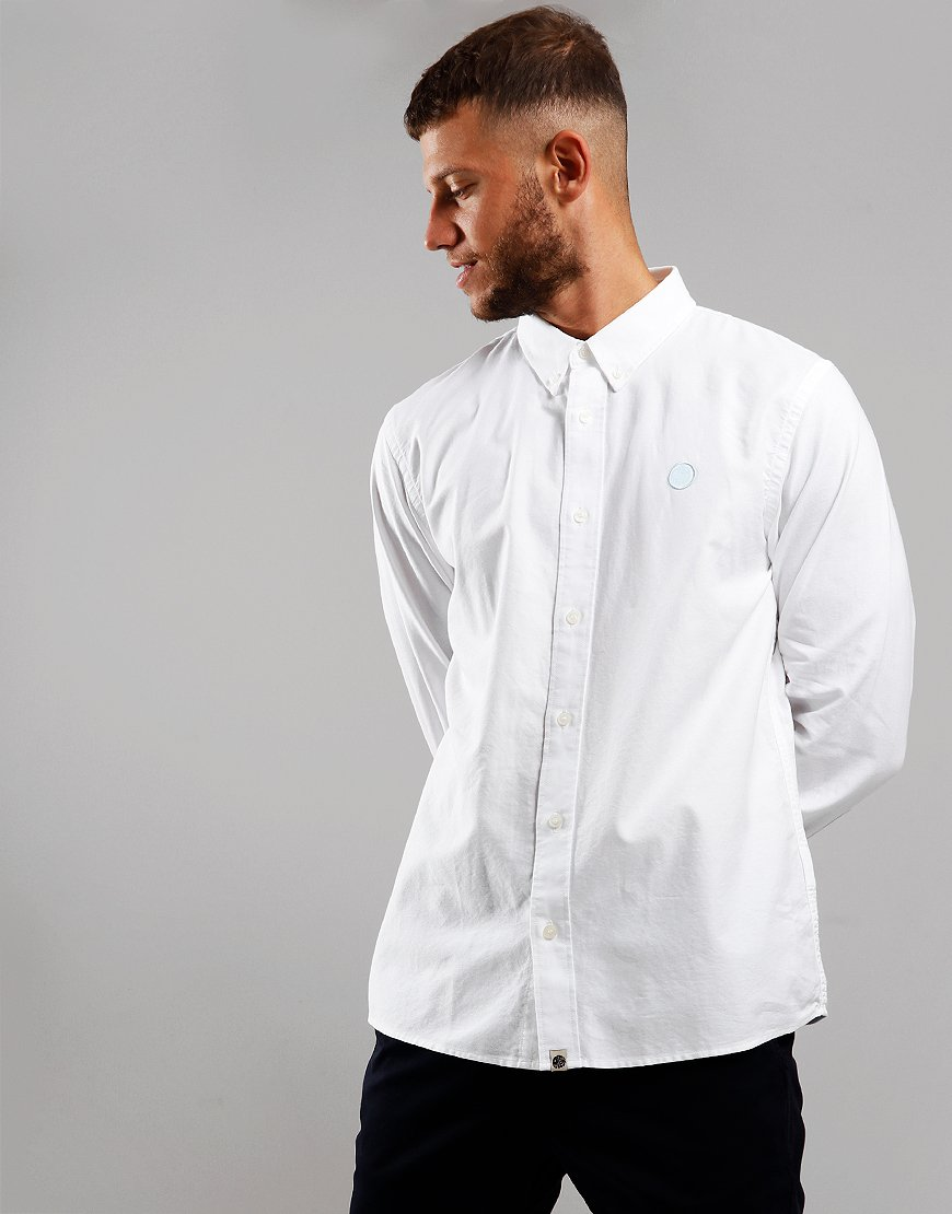 Pretty Green Long Sleeve Oxford Shirt White