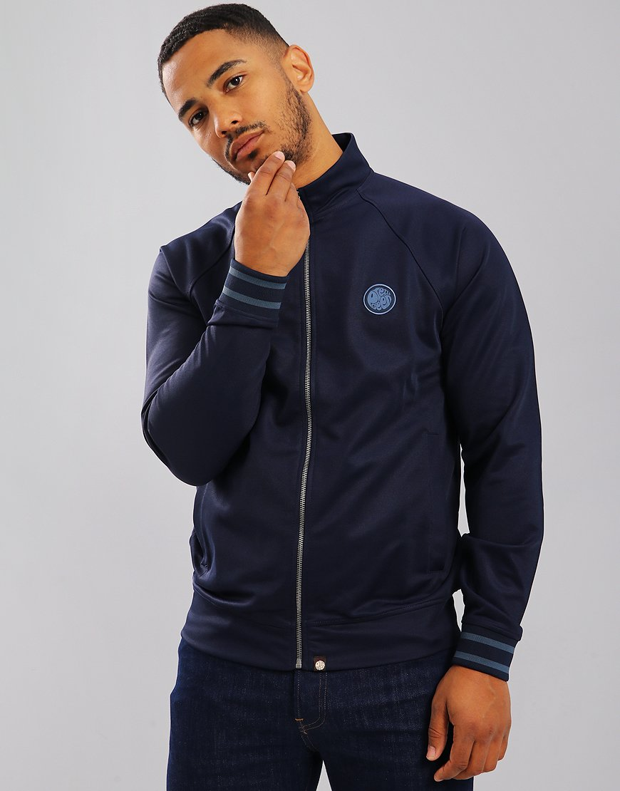 Pretty Green Milner Zip Through Track Top Navy