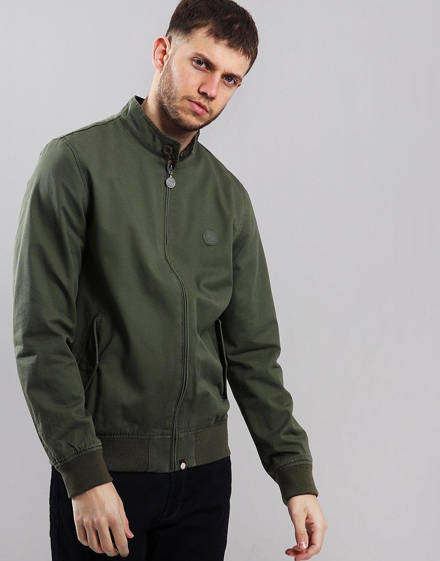 Pretty Green Newton Paisley Lined Harrington Khaki