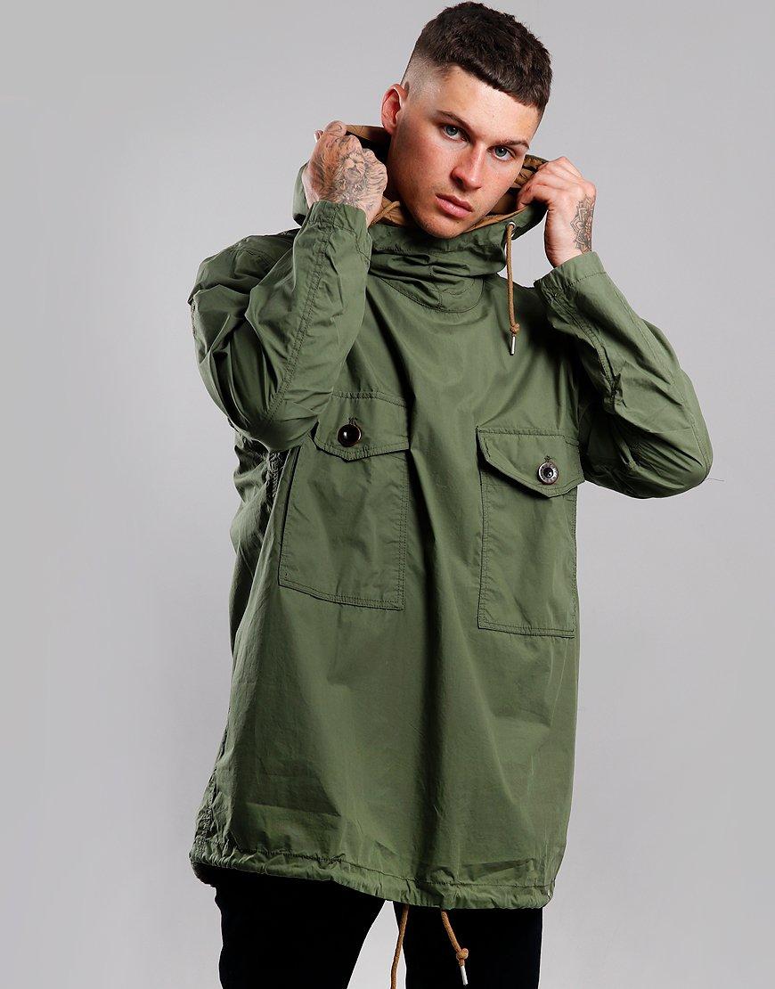 Pretty Green Two Pocket Overhead Jacket Green