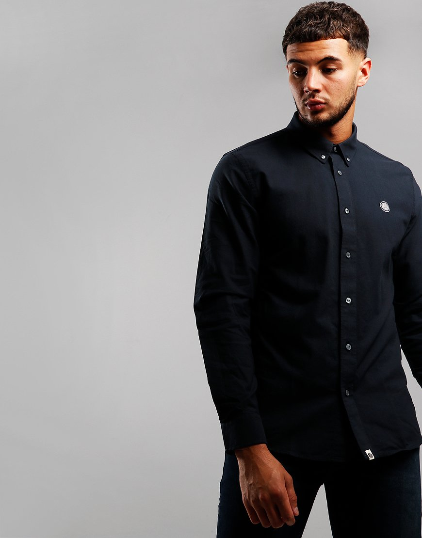 Pretty Green Long Sleeve Oxford Shirt Black