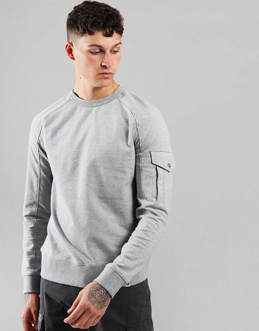 03f3e623 Pretty Green Pocket Sleeve Detail Sweat Grey
