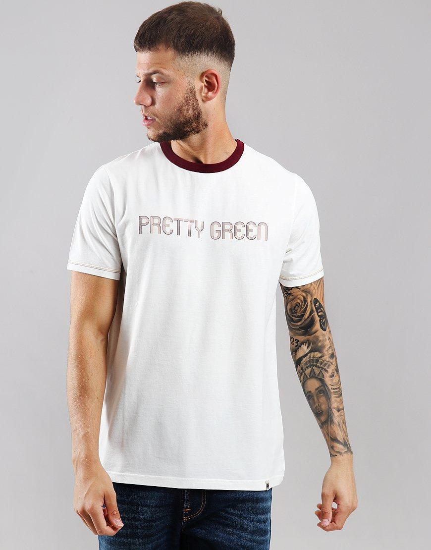 Pretty Green Print T-Shirt Off White