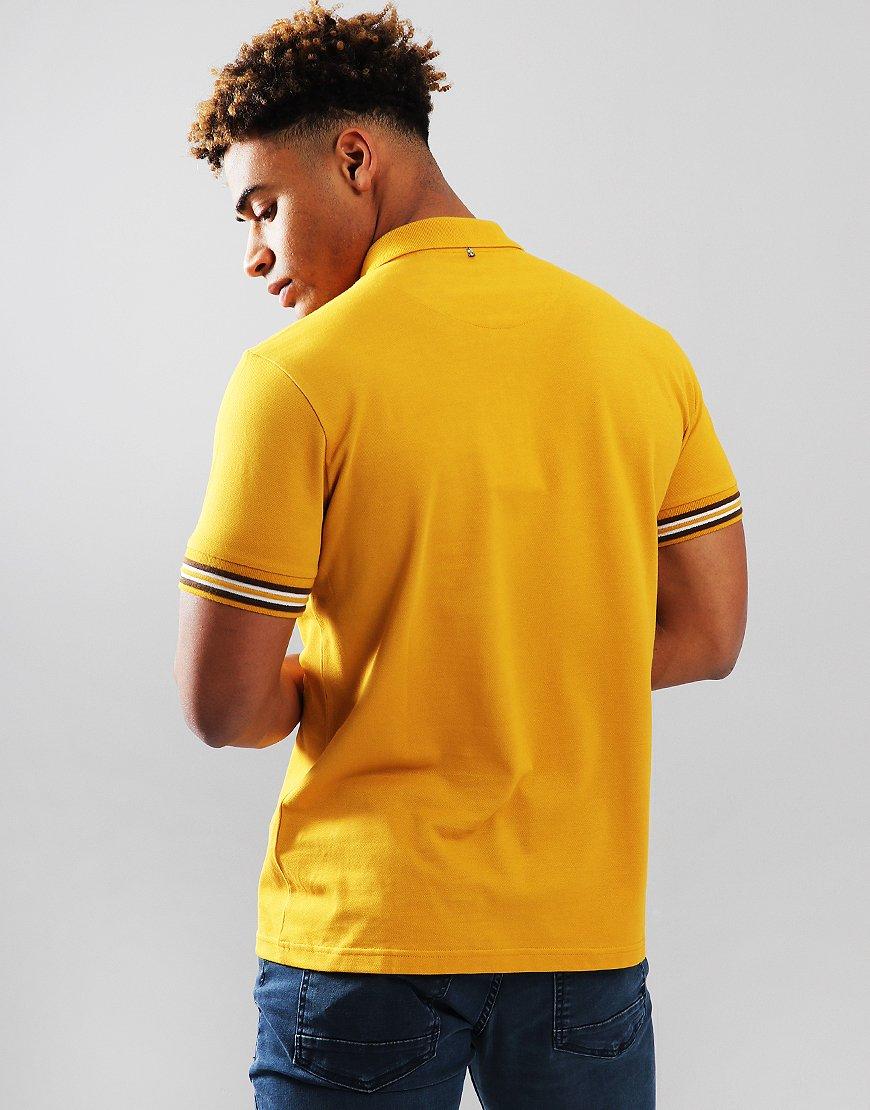 e91418d9 Pretty Green Raised Tip Cuff Polo Shirt Yellow - Terraces Menswear