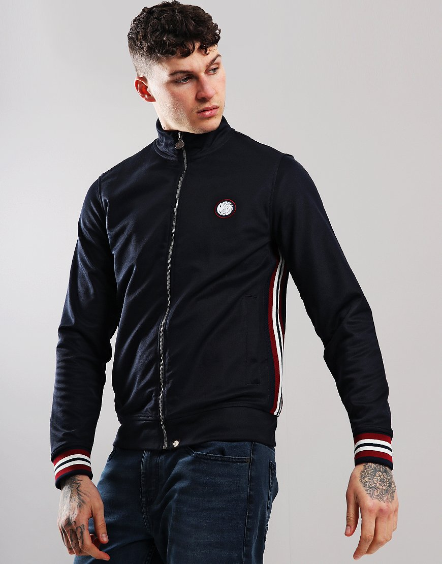 Pretty Green Rib Side Track Top Navy