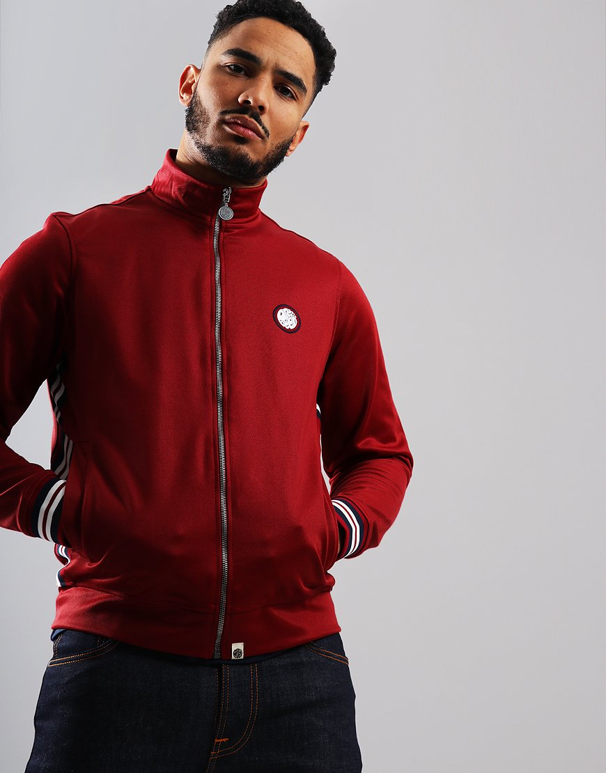 Pretty Green Rib Side Track Top Red