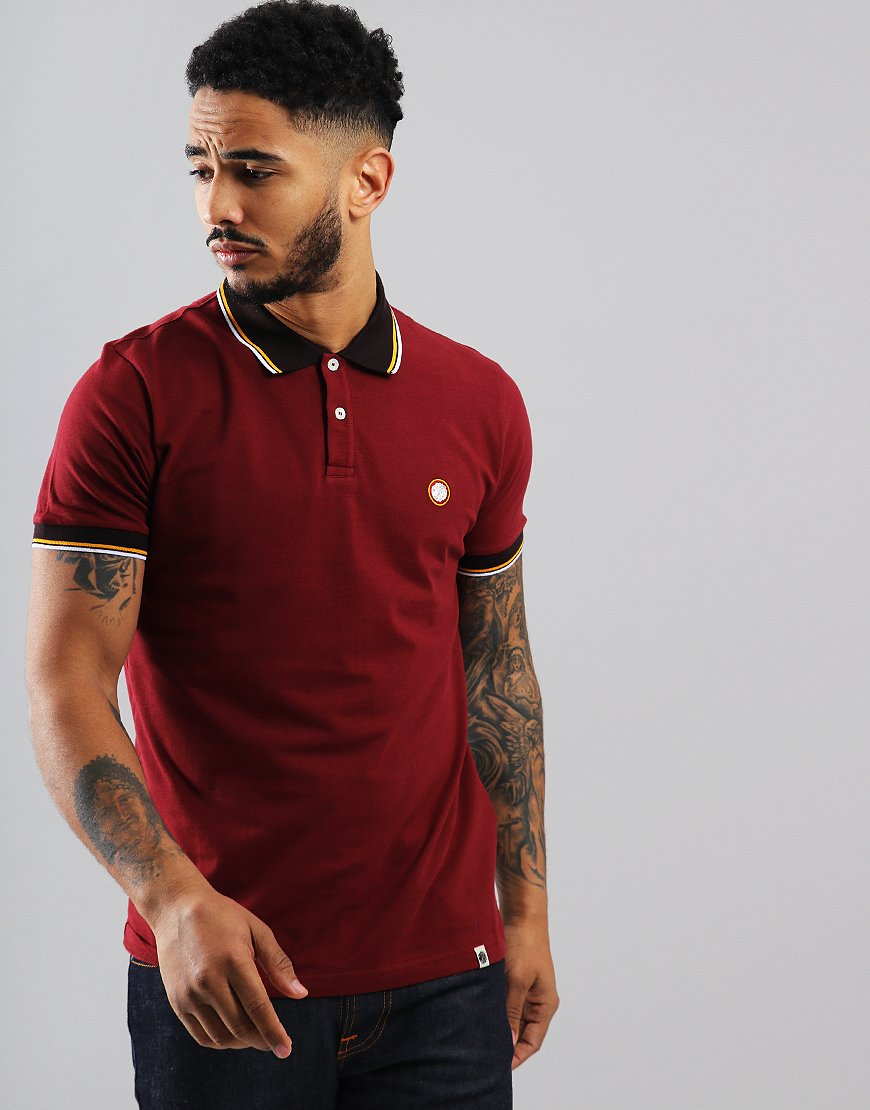 Pretty Green Tipped Polo Shirt Red