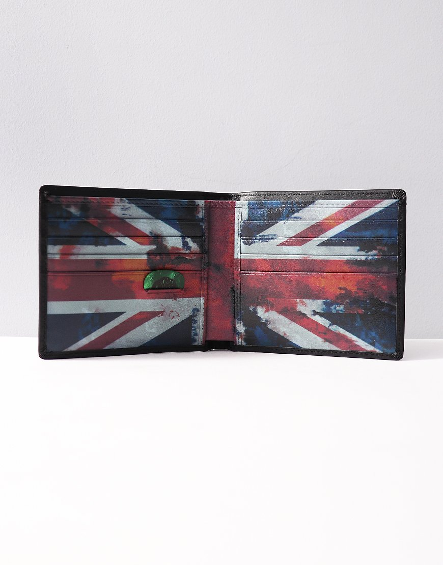 Pretty Green Union Jack Billfold Wallet Black