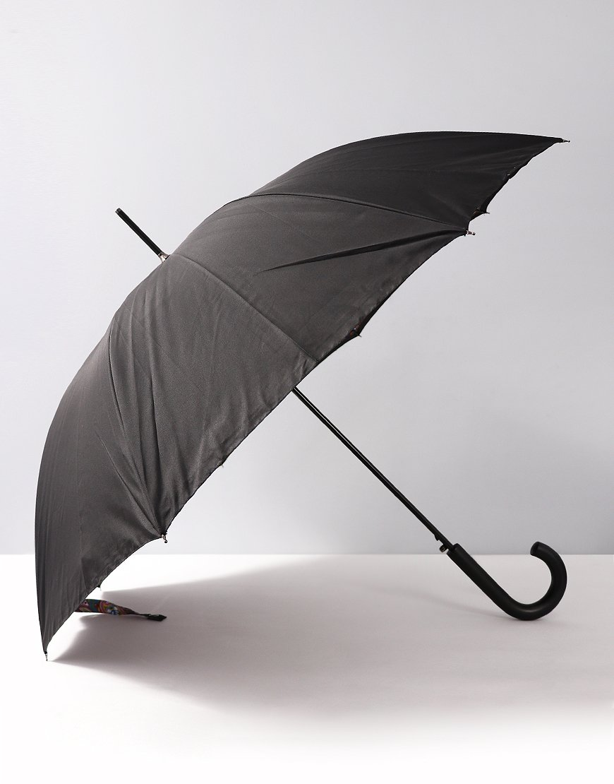 Pretty Green Vintage Paisley Walker Umbrella Black