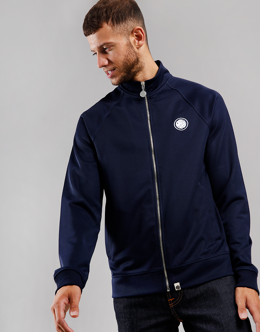 Pretty Green Zip Through Track Top Navy