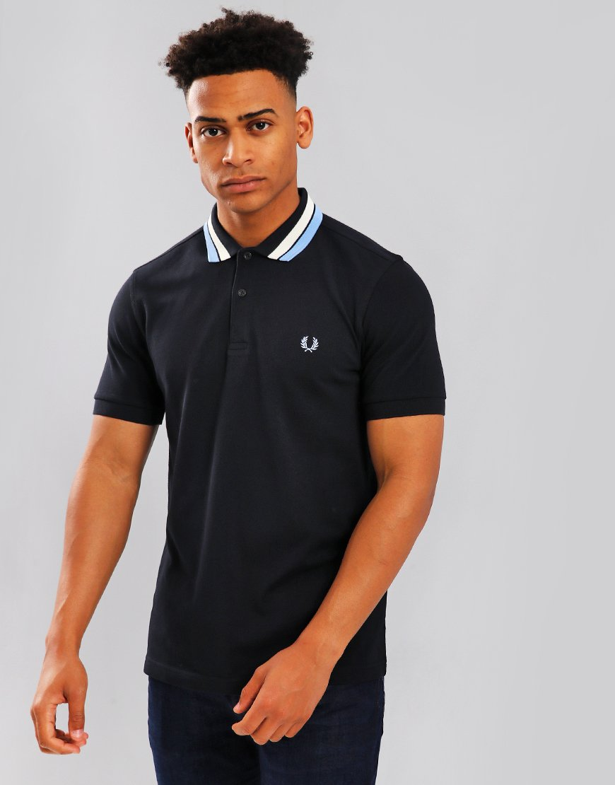 Fred Perry Bold Tipped Polo Shirt Navy