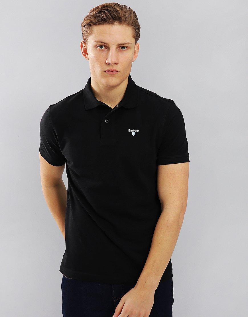 Barbour Sports Polo Shirt Black