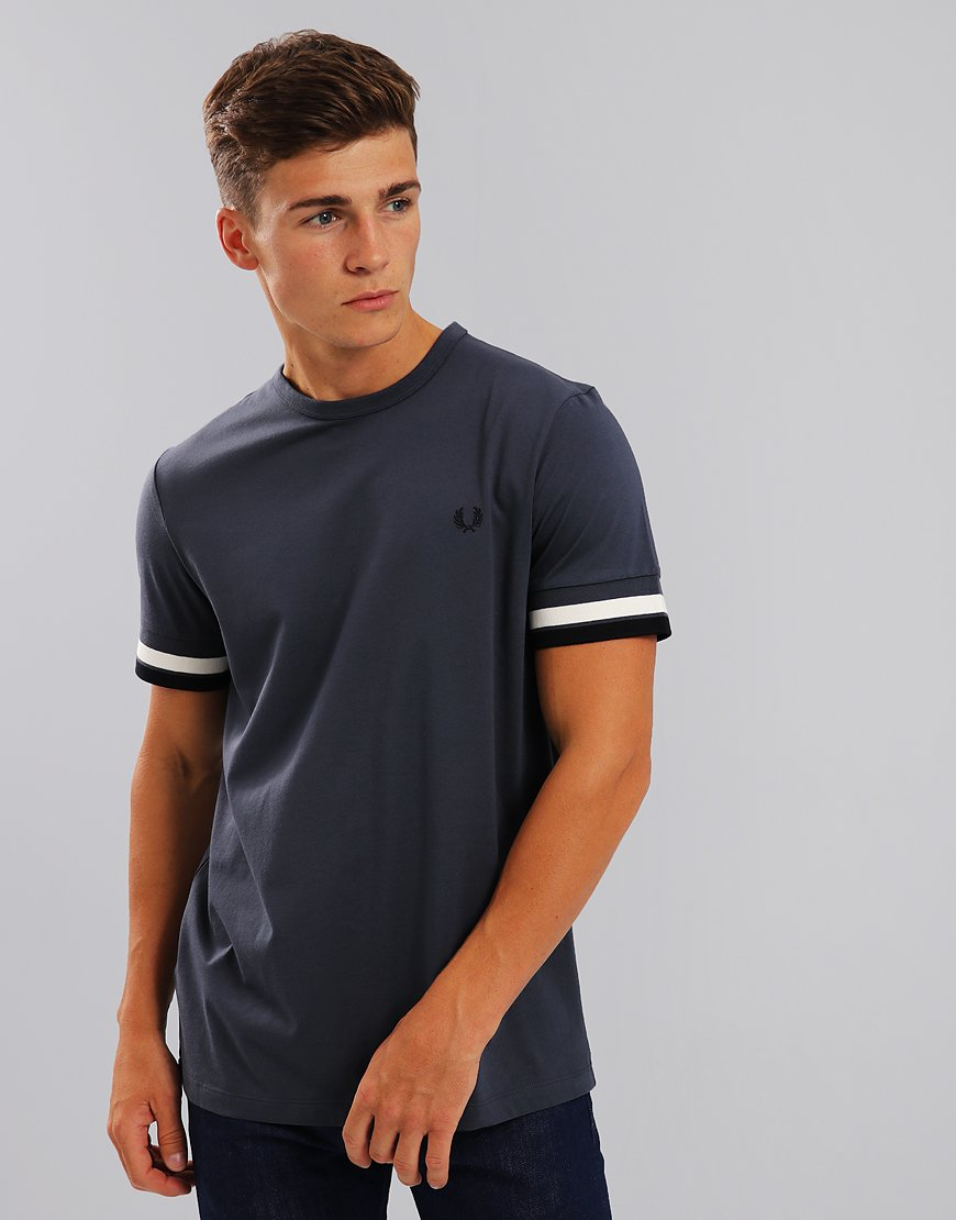 Fred Perry Bold Twin Tipped T-Shirt Dark Airforce