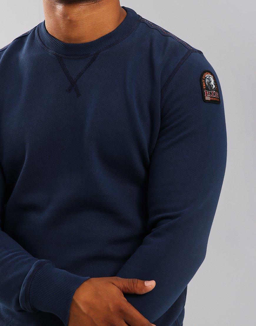 Parajumpers Caleb Crew Neck Sweat Cadet Blue