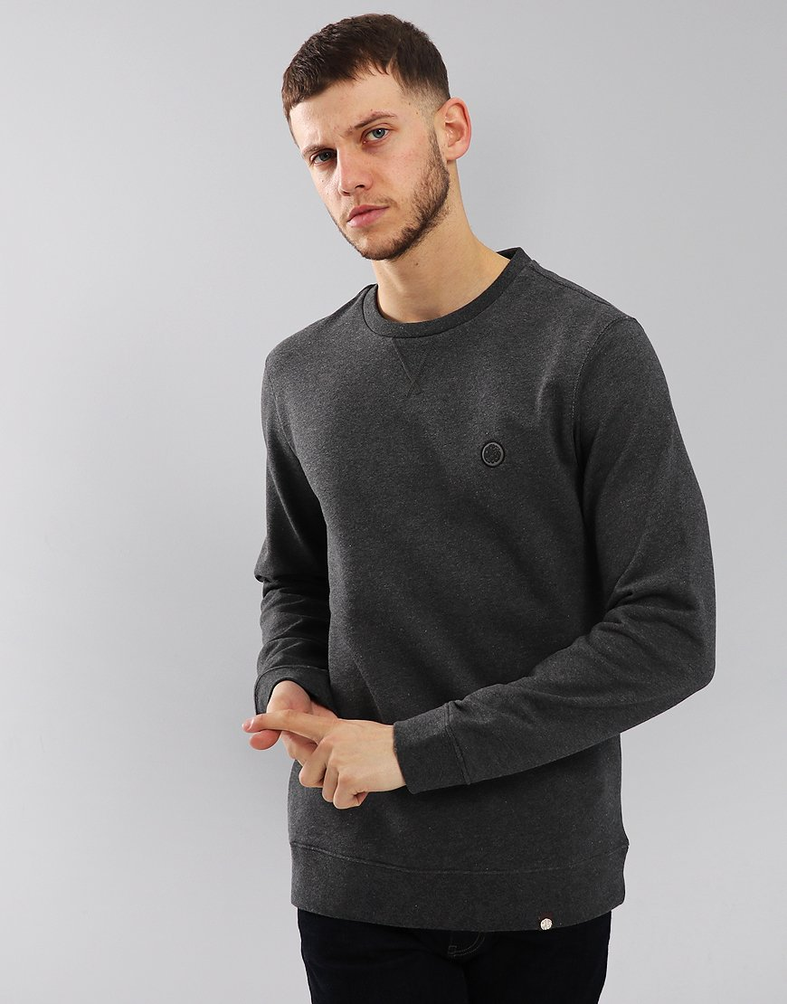 Pretty Green Clements Sweatshirt Grey Marl
