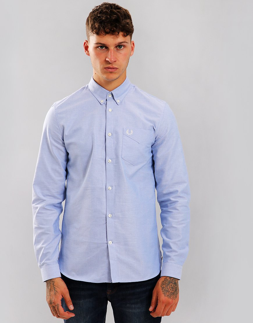a19d5393 Fred Perry Classic Oxford Shirt Light Smoke