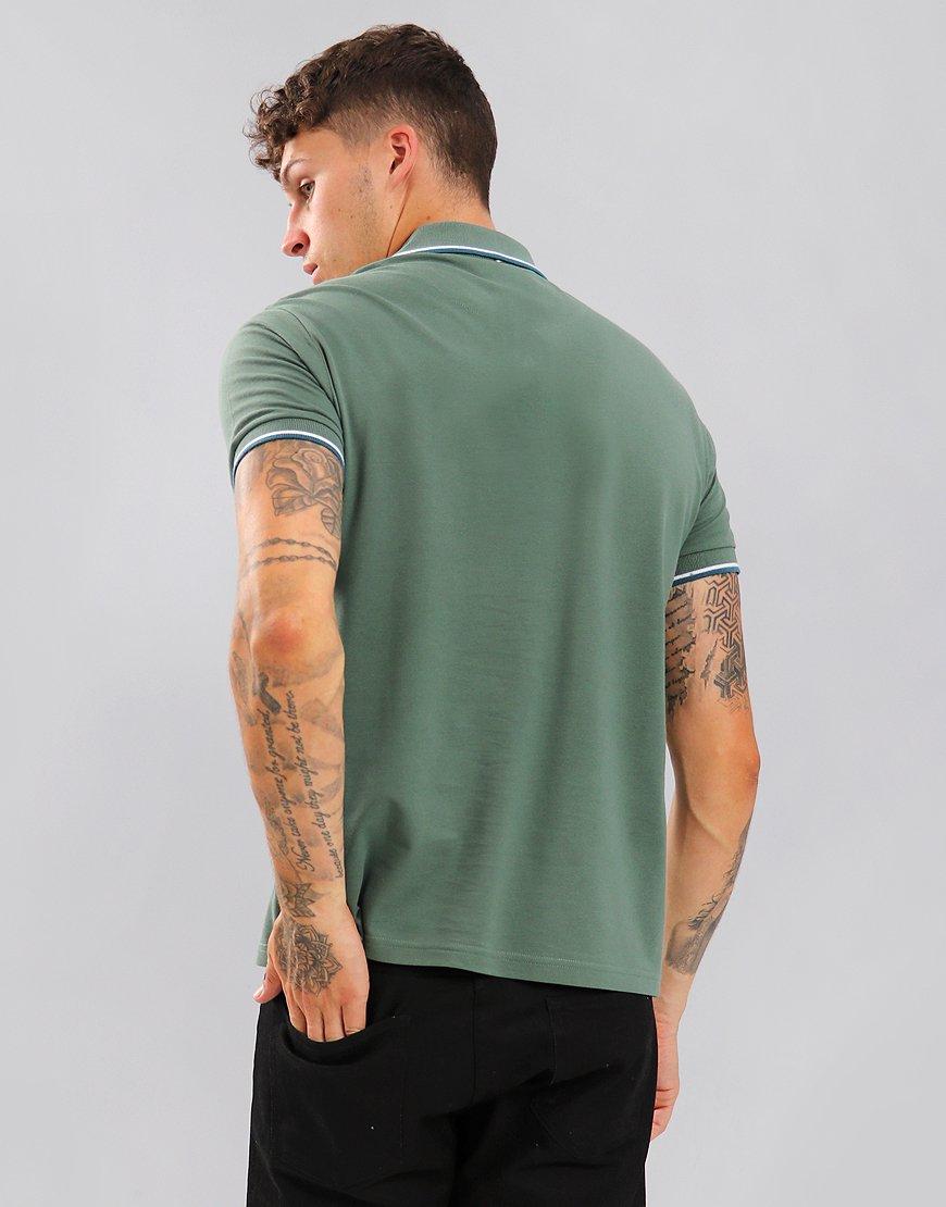 Pretty Green Short Sleeved Barton Polo Shirt Olive