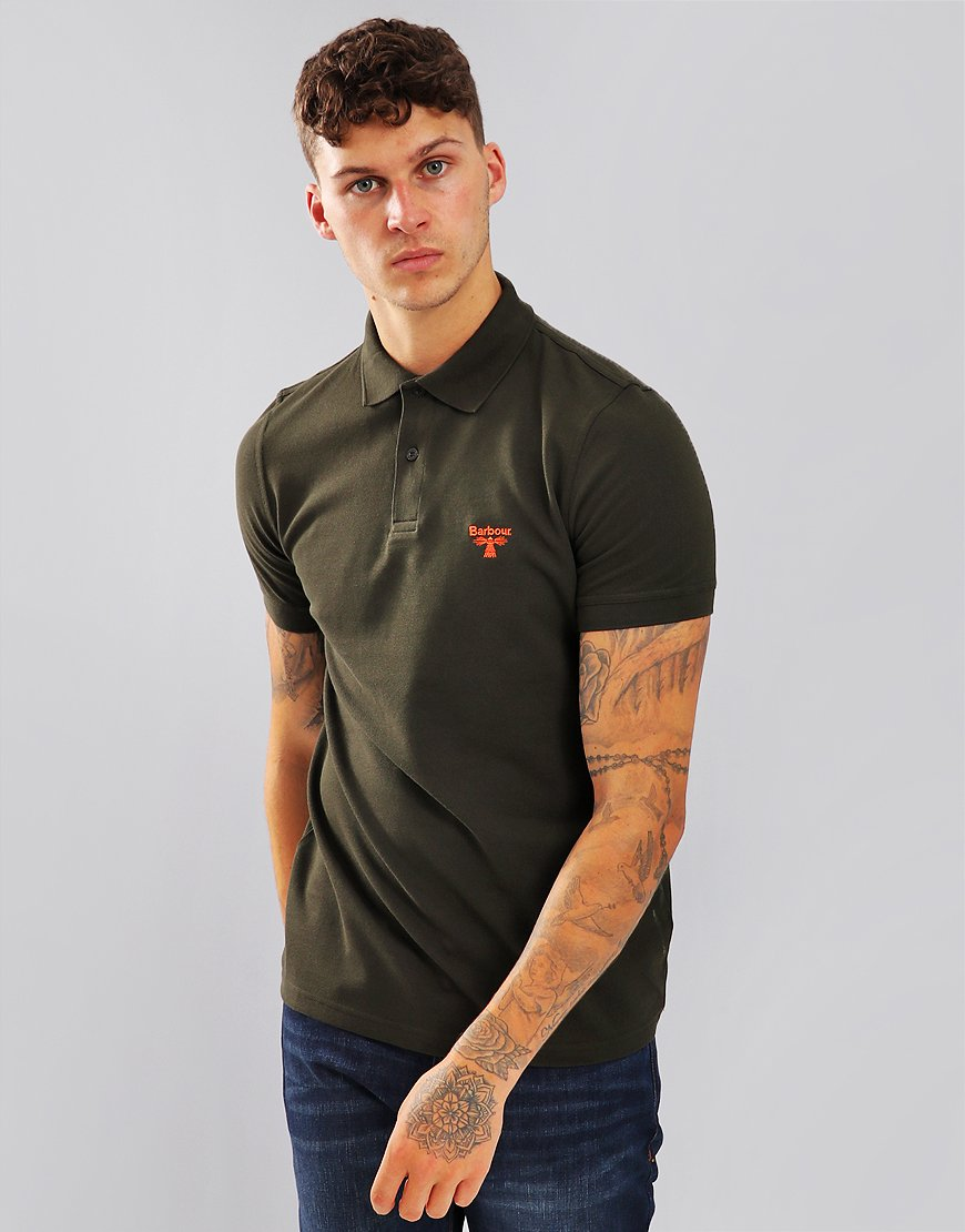 Barbour Beacon Polo Shirt Forest