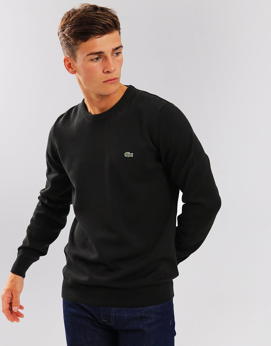 Lacoste Cotton Crew Knit Black