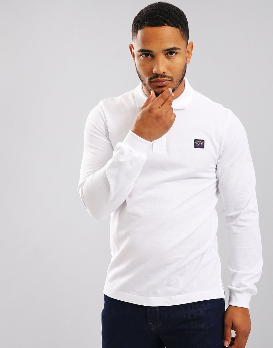 Paul & Shark Long Sleeve Polo Shirt White
