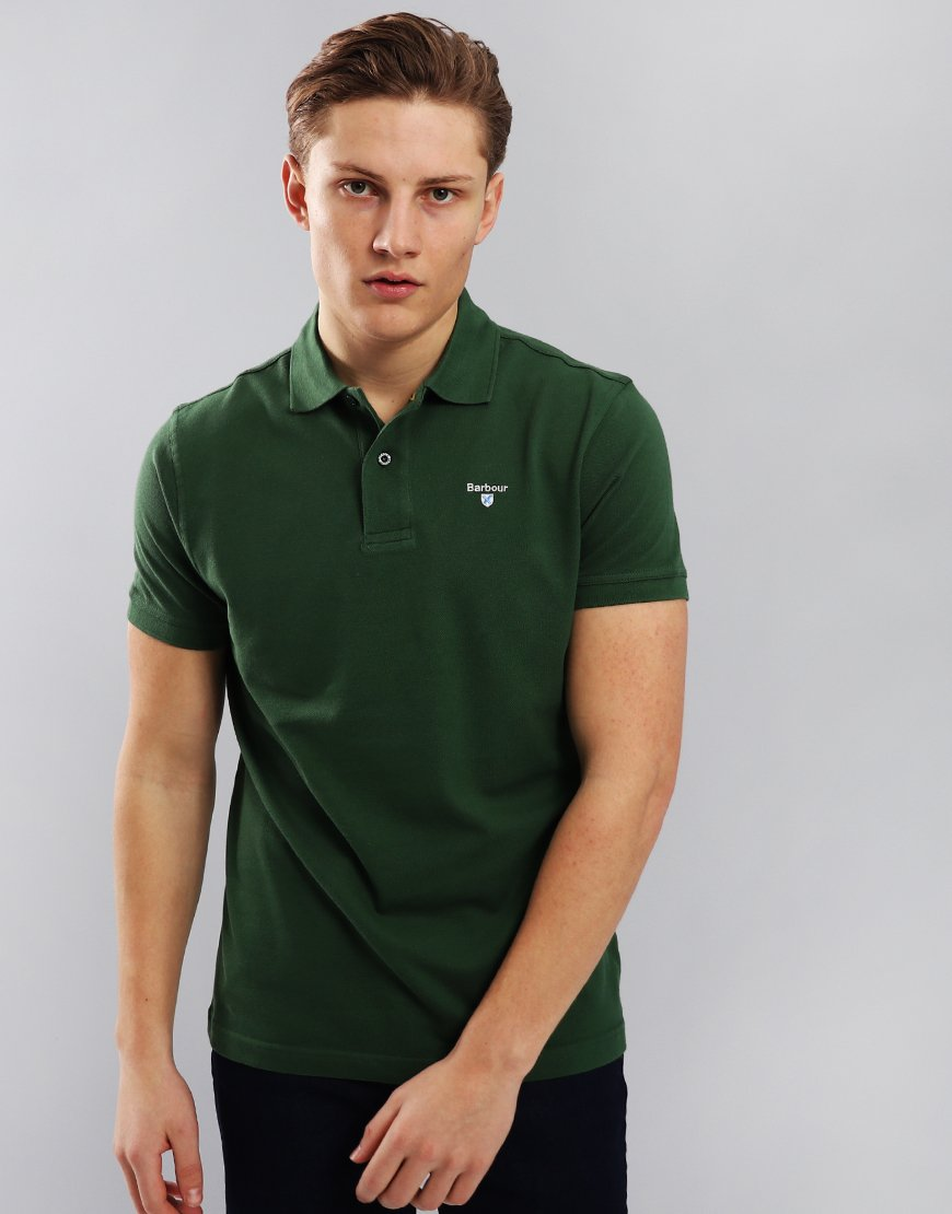 Barbour Sports Polo Shirt  Racing Green
