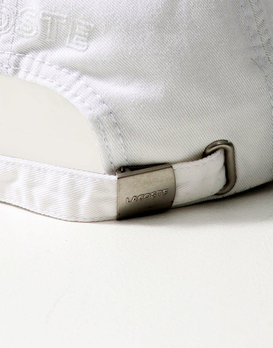 668cc521e Lacoste Plain Gabardine Cap White - Terraces Menswear