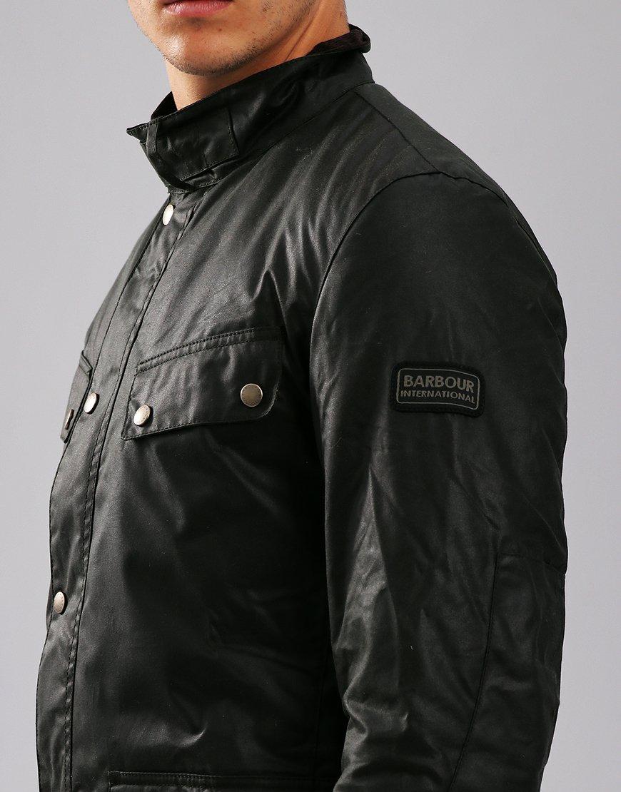 Barbour International Duke Wax Jacket Sage