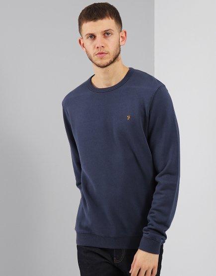 Farah Pickwell Garment Dyed Sweat Yale Blue