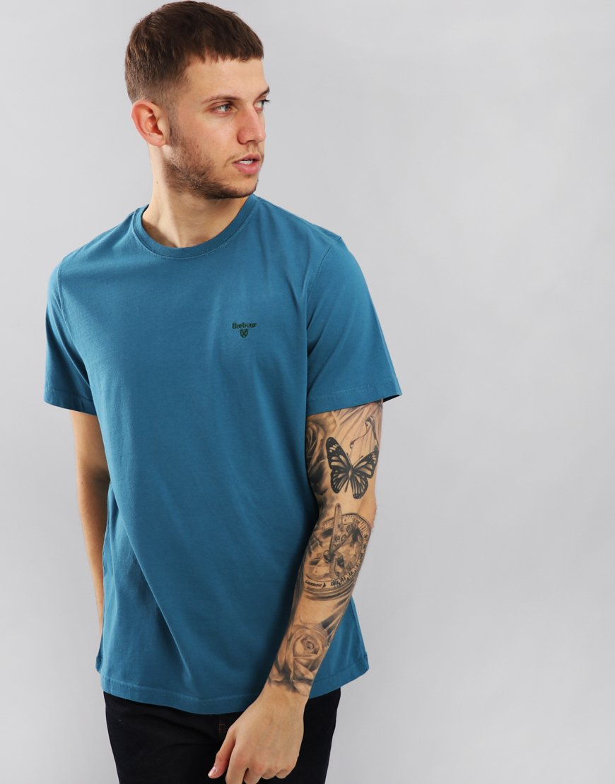 Barbour Sports T-Shirt Blue Steel
