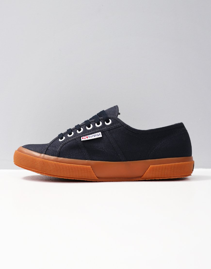 Superga Cotu Classic 2750 Canvas Trainers Navy Gum