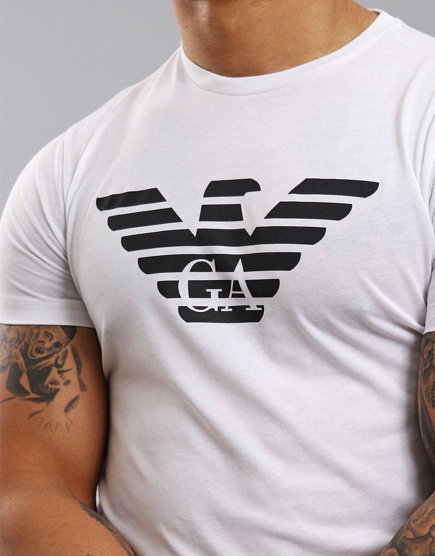 d7828ecb Emporio Armani Eagle Print T-Shirt White - Terraces Menswear