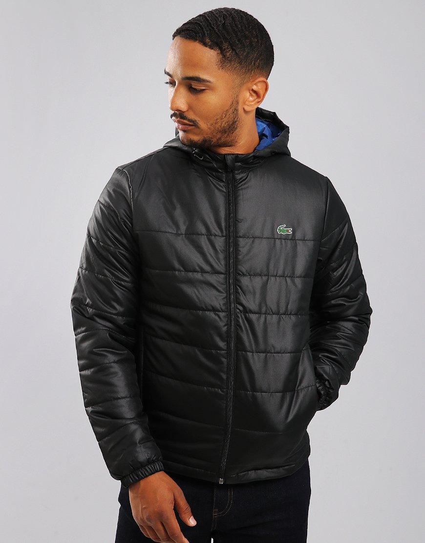 Lacoste Sport Hooded Taffeta Puffer Jacket Black/Inkwell