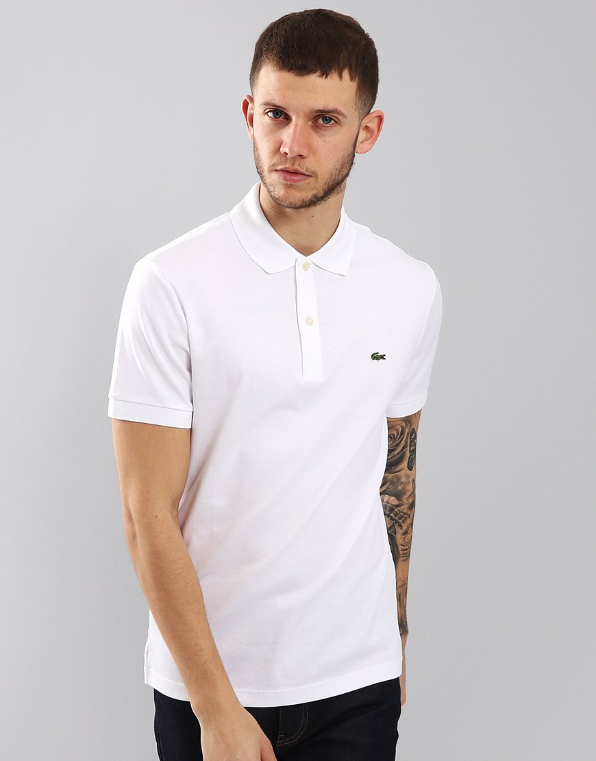 Lacoste Jersey Polo Shirt White