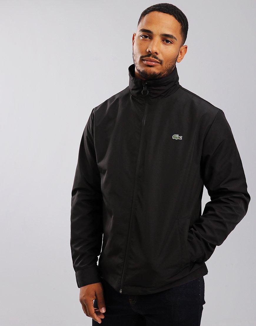Lacoste Concealed Hood Zip Taffeta Jacket Black
