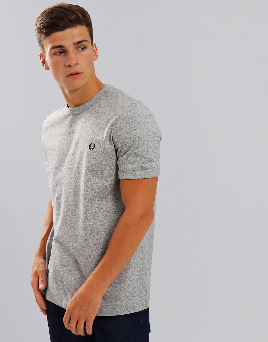 Fred Perry Ringer T-Shirt Vintage Steel Marl