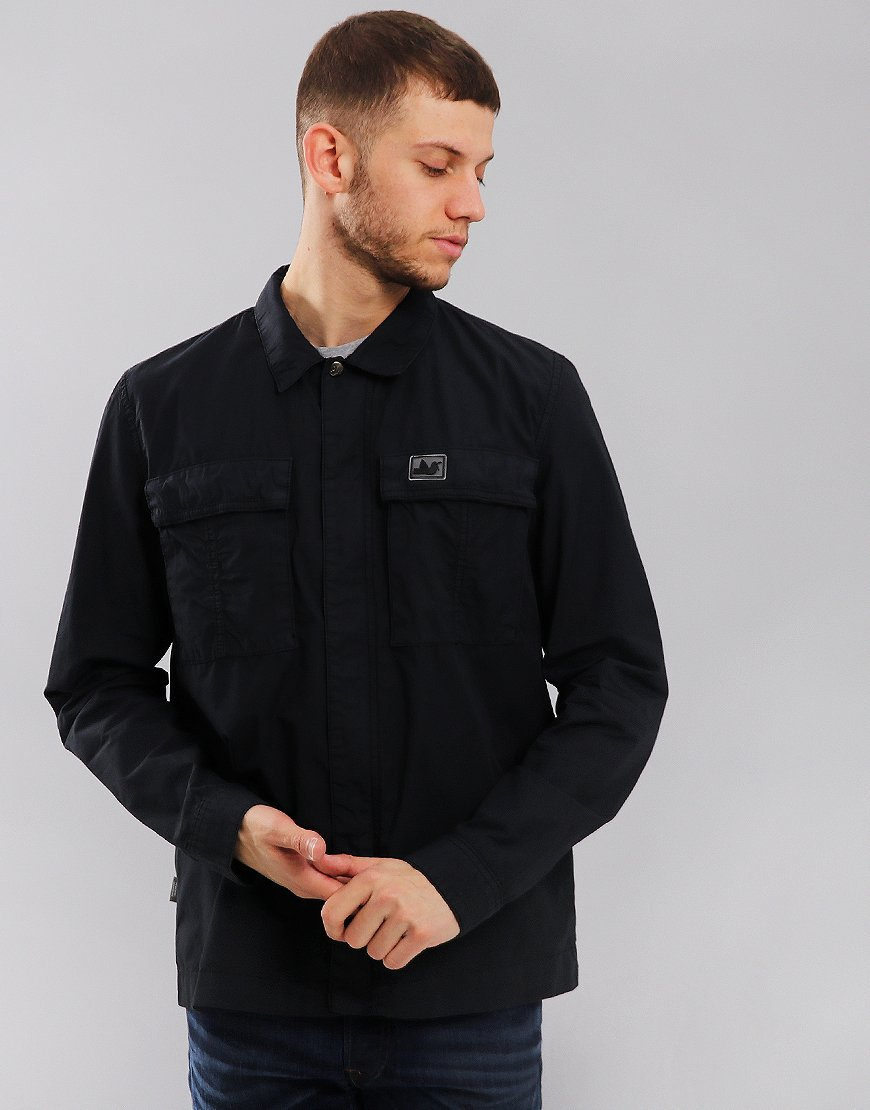 Peaceful Hooligan Ferry Overshirt Navy