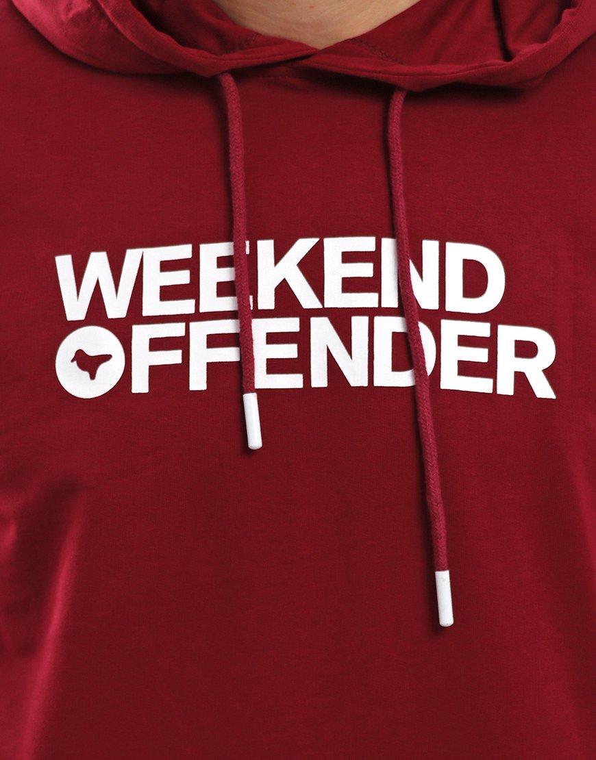 Weekend Offender Badger Hoodie Garnet