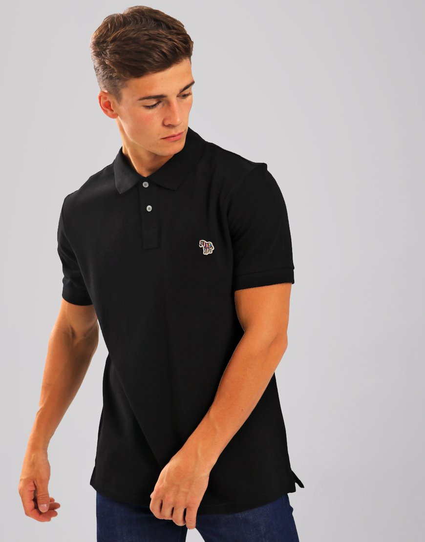 Paul Smith Zebra Logo Polo Shirt  Black