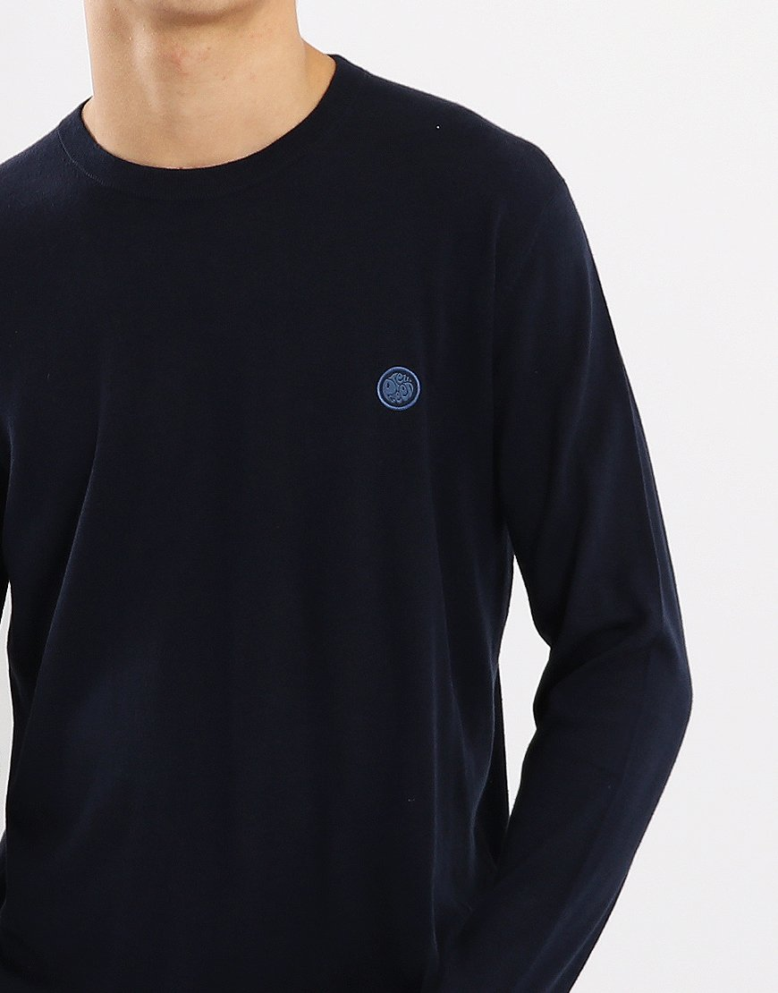 Pretty Green Hinchcliffe Crew Knit Navy