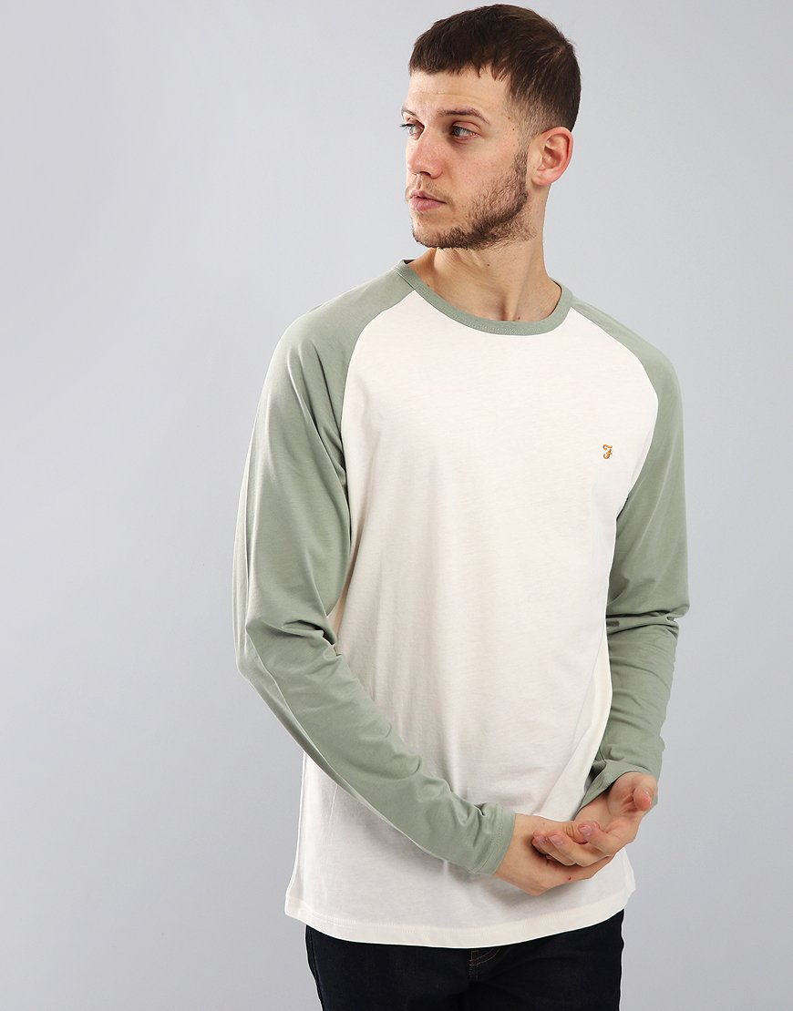 Farah Zemlak Raglan Long Sleeved T-Shirt In Balsam Green