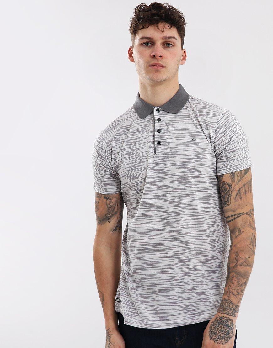 Weekend Offender Hopkins Polo Shirt Grey Tonal