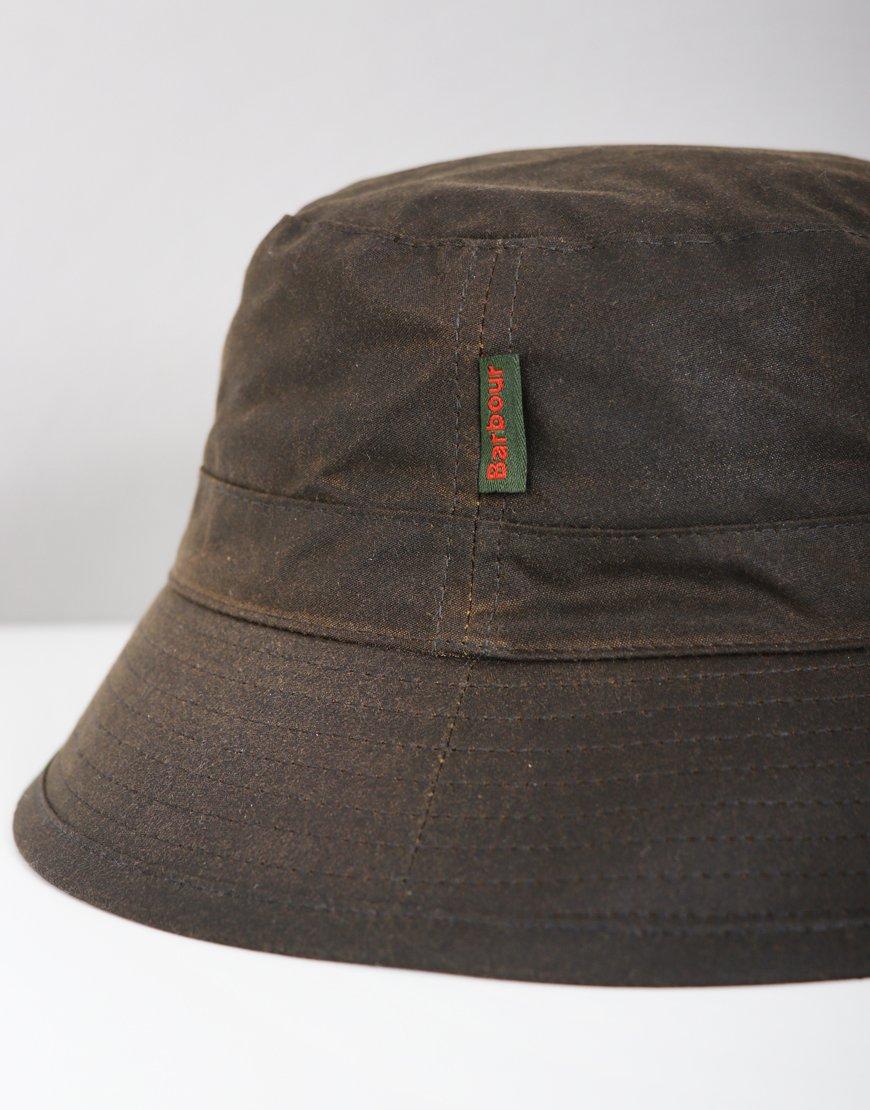 Barbour Wax Bucket Hat Olive
