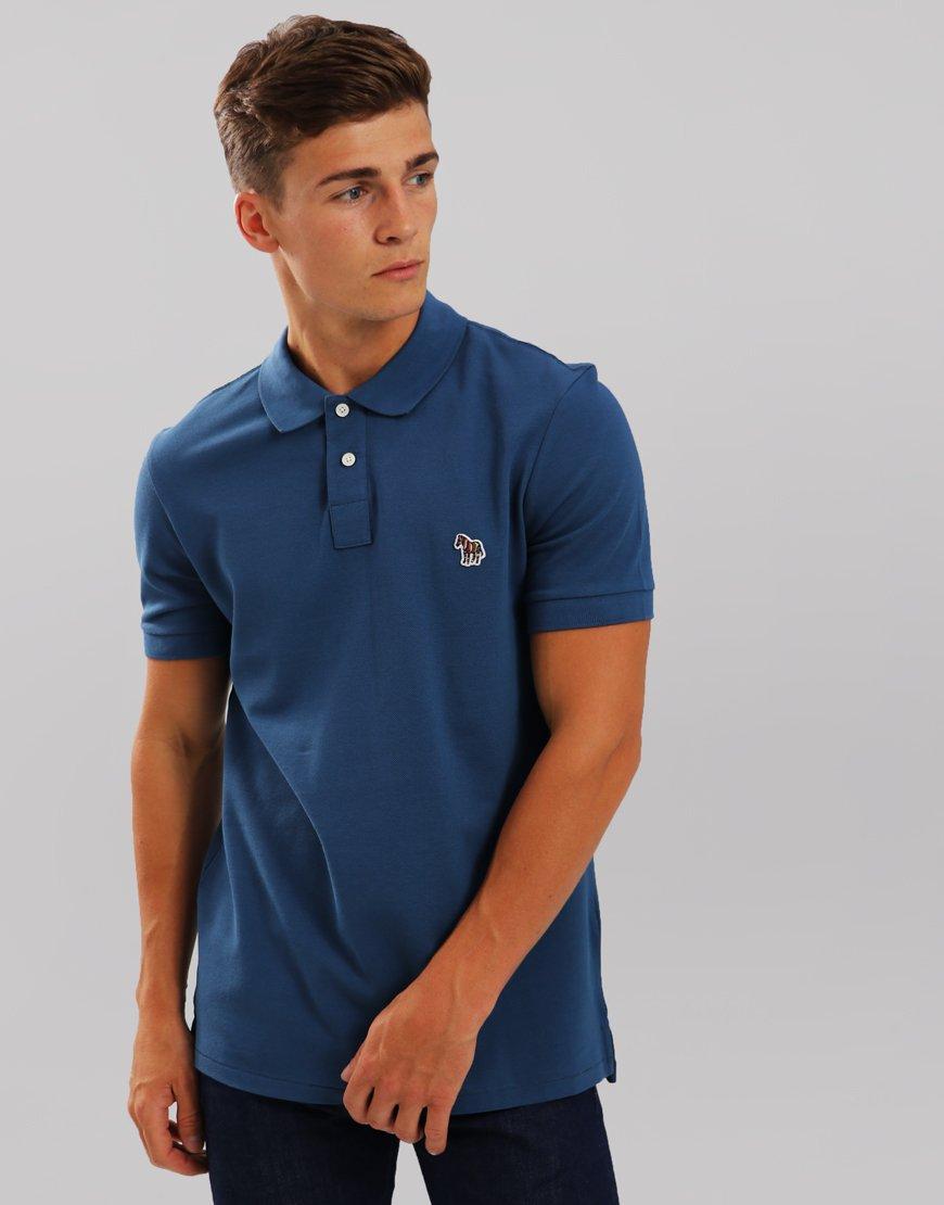 Paul Smith Zebra Logo Polo Shirt  Blue