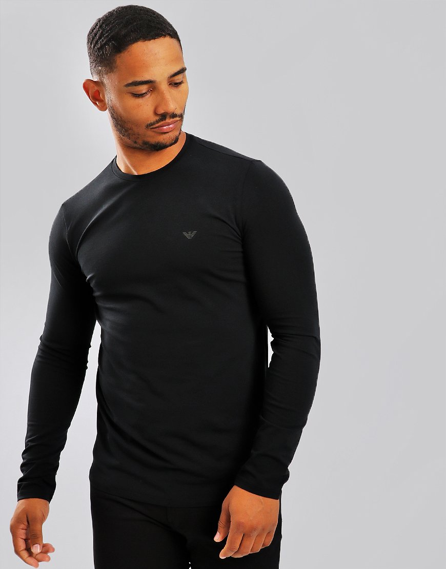 Emporio Armani Long Sleeve T-Shirt Black