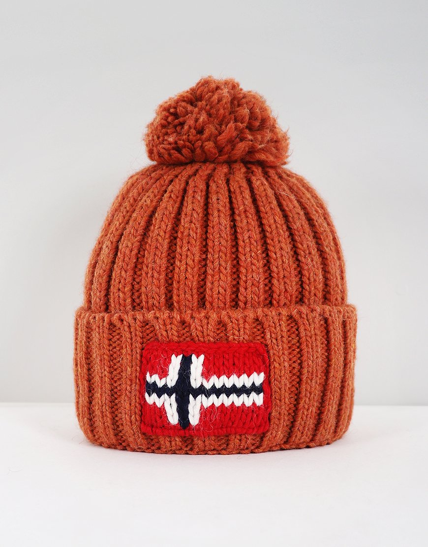 Napapijri Semiury Bobble Hat Spark Orange