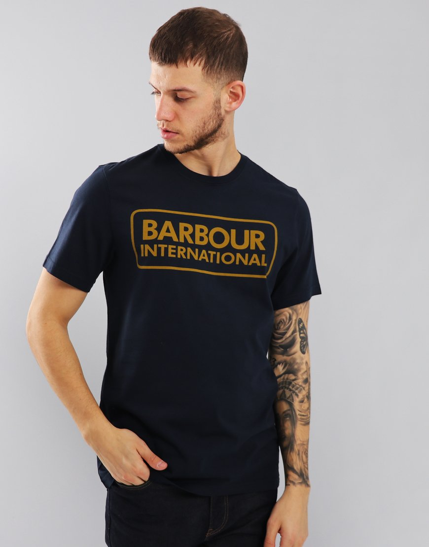 Barbour International Essential Large Logo T-Shirt Navy