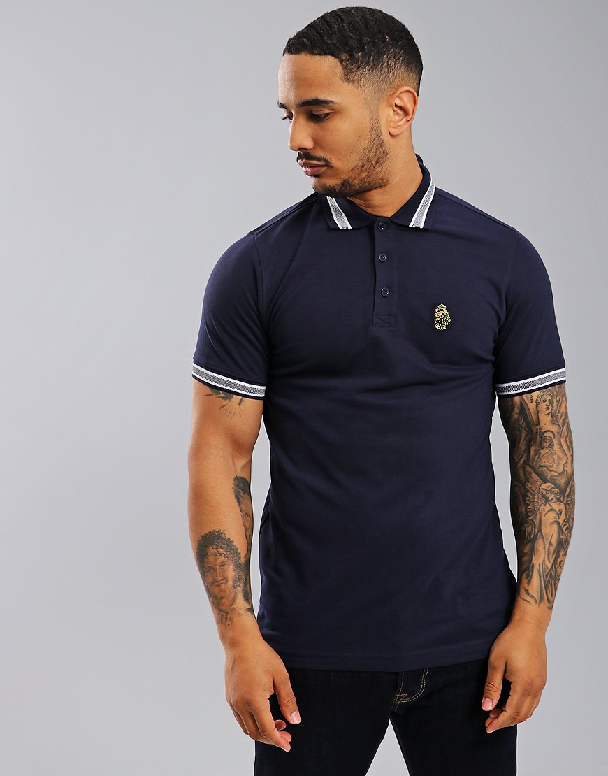 Luke 1977 Tipper Polo Shirt Navy