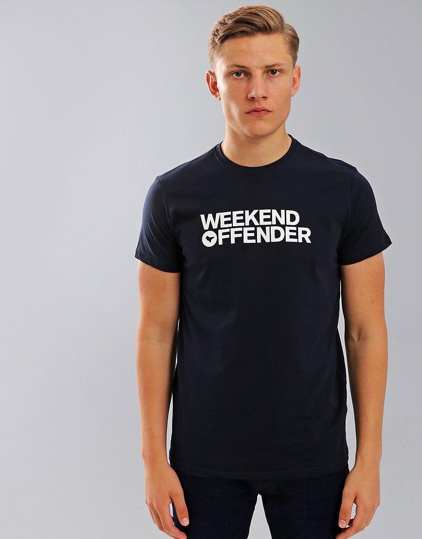 Weekend Offender Godin T-Shirt Navy